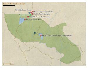 Katavi National Park Tanzania map
