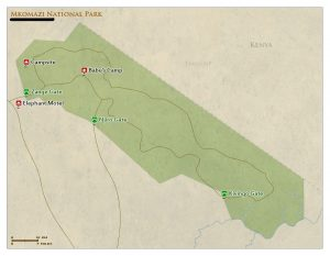 Mkomazi National Park map