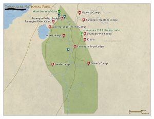 Tarangire National Park Tanzania map