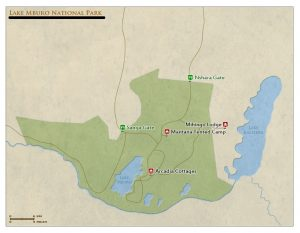 lake mburo national park map