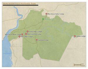 murchison falls national park map