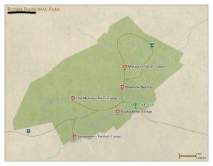 ruaha national park tanzania map